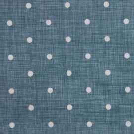 Dotty Linen Teal oilcloth tablecloth