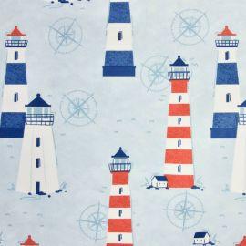 Escape to the Coast oilcloth tablecloth