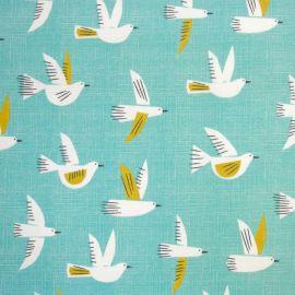 Flyaway oilcloth tablecloth
