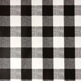 French Gingham Black PVC tablecloth