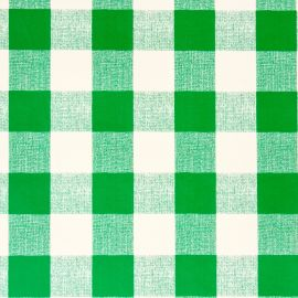French Gingham Green PVC tablecloth