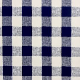 French Gingham Navy PVC tablecloth