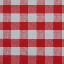 French Gingham Red PVC tablecloth
