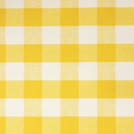 French Gingham Yellow PVC tablecloth
