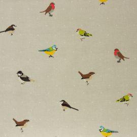 Garden Birds oilcloth tablecloth
