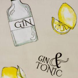 Gin & Tonic oilcloth tablecloth