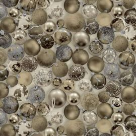 Gold Baubles Christmas PVC tablecloth