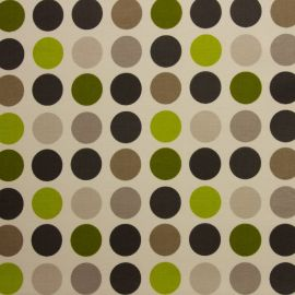 Great Spot Lime oilcloth tablecloth