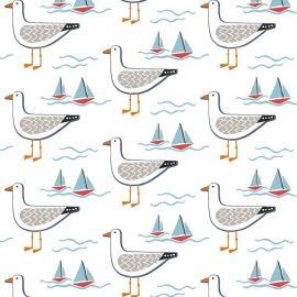 Gull Multi oilcloth tablecloth