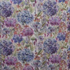 Hydrangea Oilcloth Tablecloth SALE ITEM ROUND 180 CM DIAMETER