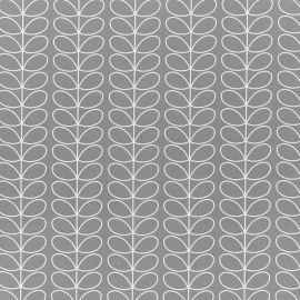 Orla Kiely Linear Stem Light Grey oilcloth tablecloth