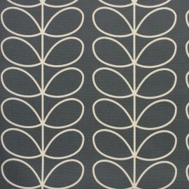 Orla Kiely Linear Stem Cool Grey oilcloth tablecloth