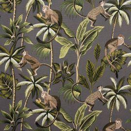 Monkey Grey oilcloth tablecloth