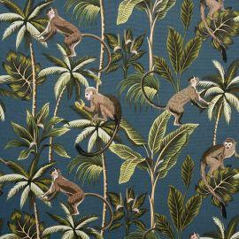 Monkey Teal oilcloth tablecloth