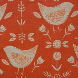 Narvik Burnt Orange oilcloth tablecloth