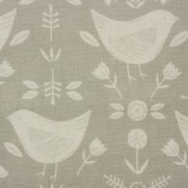Narvik Grey oilcloth tablecloth