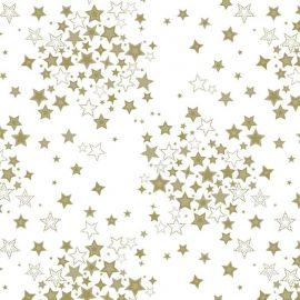 Nordic star gold PVC tablecloth