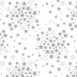 Nordic star silver PVC tablecloth