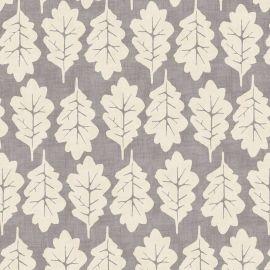 Oak Leaf Grey oilcloth tablecloth