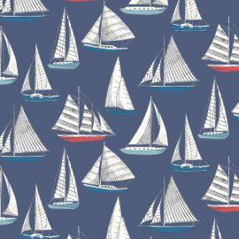 Ocean Yacht Navy oilcloth tablecloth