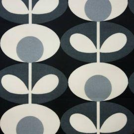 Orla Kiely Oval Flower Cool Grey oilcloth tablecloth