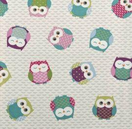 Owls oilcloth tablecloth