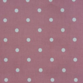 Polka Dot Pink oilcloth tablecloth
