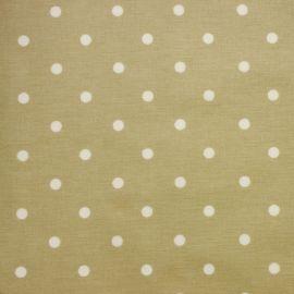 Polka Dot Oatmeal oilcloth tablecloth