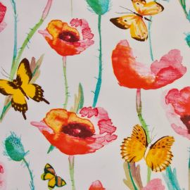 Poppies oilcloth tablecloth
