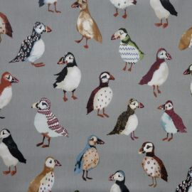 Puffin oilcloth tablecloth