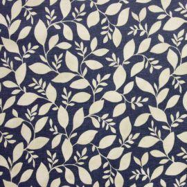 Rene Indigo oilcloth tablecloth