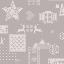 Rudolph Grey PVC tablecloth