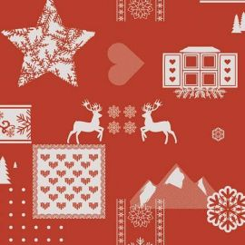 Rudolph Red PVC tablecloth