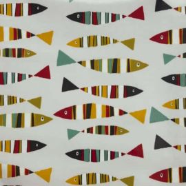 Sardines Tutti Fruiti oilcloth tablecloth