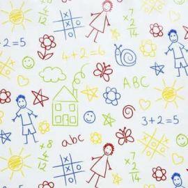 Scribble oilcloth tablecloth