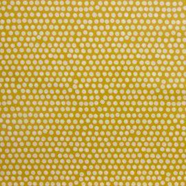 Spotty Ochre oilcloth tablecloth