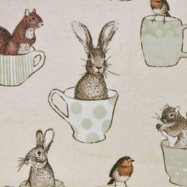 Wildlife In A Tea Cup oilcloth tablecloth
