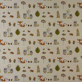 Little Fox oilcloth tablecloth