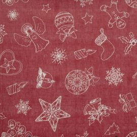 Christmas Time Red PVC tablecloth