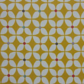 Zap Ochre oilcloth tablecloth