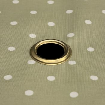 Parasol hole with a brass ring